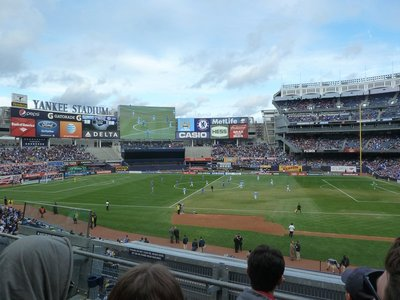 The game between Chelsea and Manchester City gets underway at the Yankee Stadium
