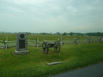 Monument to a New York Artillery Battery on the Wheatfield Road - note the zigzagging 'worm' fencing, this was everywhere