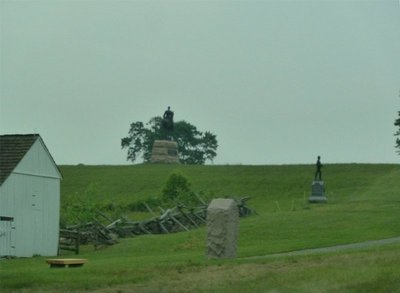 General Mead's Statue on Cemetery Ridge above his headquarters in Leister Farm