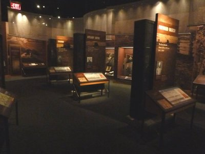 Museum displays describing the different phases of Pickett's Charge