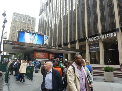 Madison Square Garden built on top of New York's Penn Station