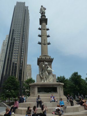The Colombus Memorial at the center of Columbus Circle outside Central Park
