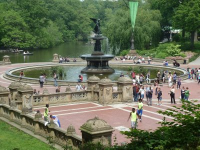 The Angel of the Waters Fountain on the Lower Bethesda Terrace in Central Park