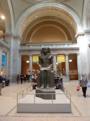 Inside the lobby of the Metropolitan Museum of Art