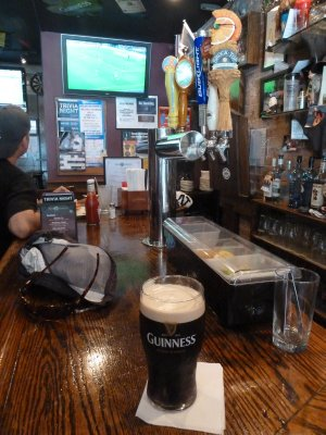 Time for a 2nd pint of Guinness (with the England v Ireland friendly on the TV live from London)