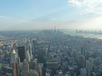 The view south towards Lower Manhattan from the 86th floor