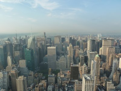 The view north from the 86th floor towards Central Park