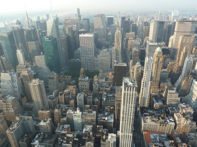 The view along a very straight 5th Avenue stretching north past Central Park from the 86th floor