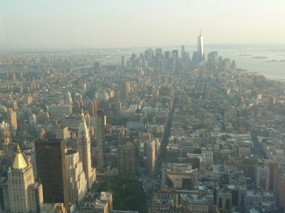The view south towards Lower Manhattan from the 102nd floor