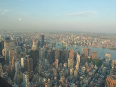The view north west towards the Chrysler Building and UN from the 102nd floor