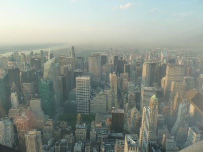 The view north towards Central Park from the 102nd floor