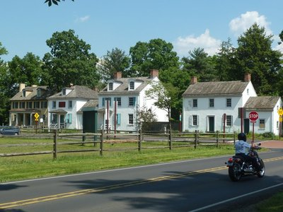 Other later historic buildings (and a nice bike!) at Washington Crossing