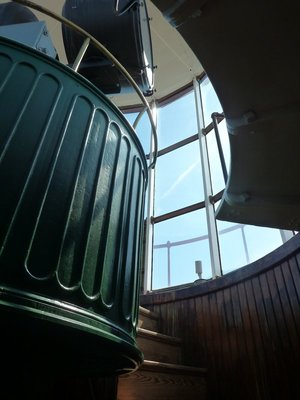 The final steps up to the Lighthouse's rotating lens
