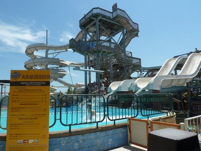 The waterslide at the Raging Waters Waterpark at the end of the Mariner's Landing Pier at Wildwood
