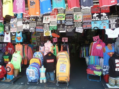 One of many t-shirt shops along the Boardwalk at Wildwood
