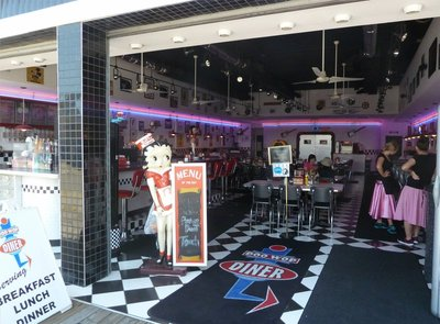 50's style burger restaurant on the Wildwood Boardwalk