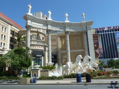 the Roman facade of Caesars Atlantic City