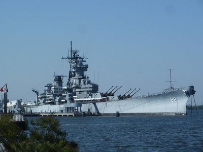USS New Jersey (BB-62) at Camden