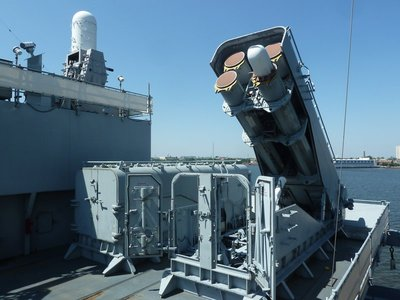 Tomahawk Cruise Missile Armoured Box Launcher aboard the USS New Jersey