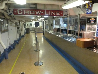 The 'Chow-Line' aboard the USS New Jersey
