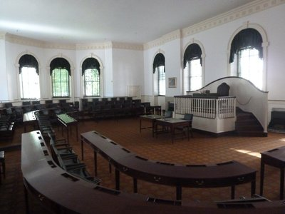 The House Chamber on the ground floor of Congress Hall
