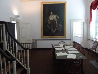 Portrait of Louis XVI (a gift from the French Monarchy) in a committee room next to the Senate Chamber