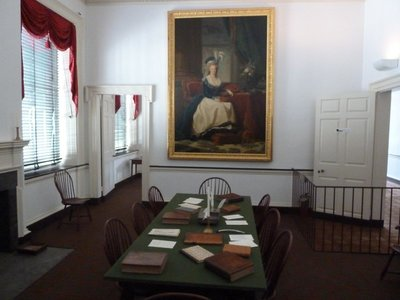 Portrait of Marie Antoinette (a gift from the French Monarchy) in the other committee room next to the Senate Chamber