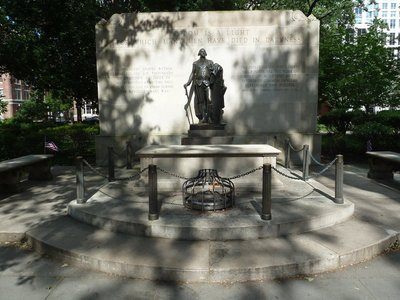 The Tomb of the Unknown Soldier of the American Revolution in Washington Square