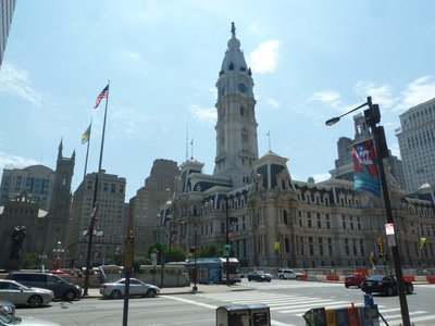 Philadelphia City Hall in the middle of Penn Square