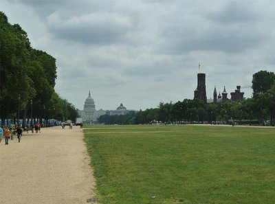 View east up the National Mall to the Capitol Building from the Washington Monument