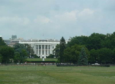 The White House looking north from the National Mall