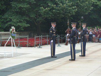 Changing the Guard Ceremony at the Tombs of the Unknowns