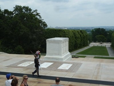 The Tombs of the Unknowns overlooking Washington