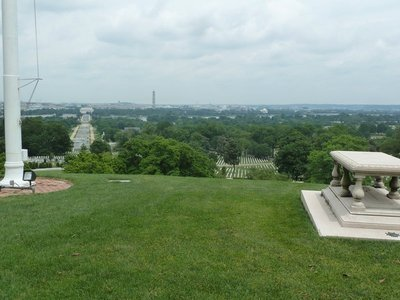 The view over Washington from Arlington House