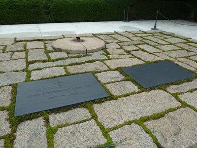 Close up of President John F. Kennedy's gravestone