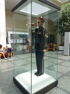 Wax model of a Honor Guard Bugler in the Visitors Center