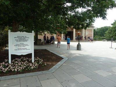 The entrance into Arlington National Cemetery