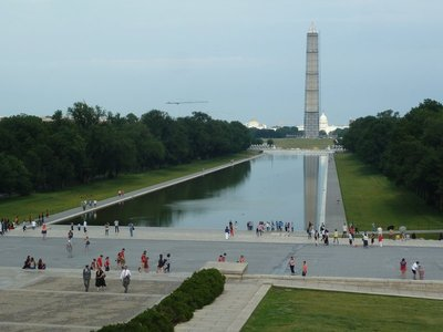 Looking back up the National Mall from the Lincoln Memorial