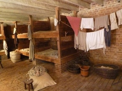 Inside the Women's Slave Quarters at Mount Vernon