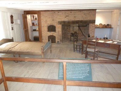 Inside the overseer's accommodation along the North Lane