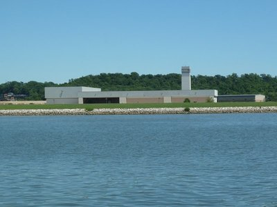The hangars at Anacostia Naval Air Station - home of 'Marine One'