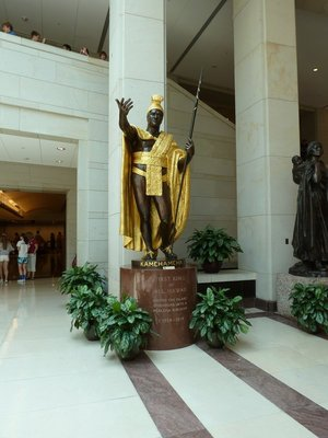 King Kamehameha (1758-1819) from Hawaii's Statue in Emancipation Hall