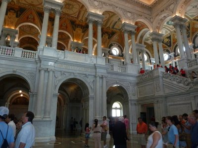 Inside the Great Hall of the Library of Congress
