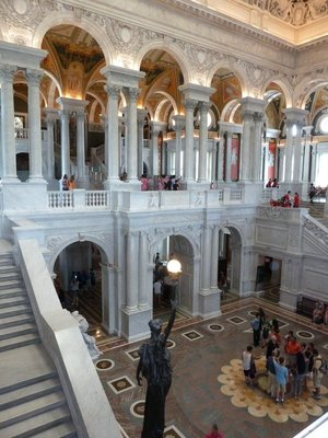 View down into the Great Hall of the Library of Congress