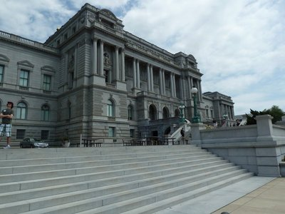 Outside the Library of Congress
