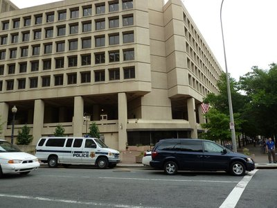 The J Edgar Hoover Building on Pennsylvania Avenue - headquarters of the FBI