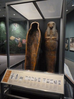 Egyptian Coffin in the Western Cultures Hall