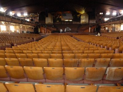 Inside the Great Auditorium with its world famous pipe organ centre stage