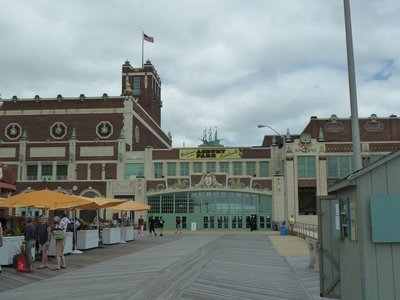 The broadwalk entrance to the Asbury Park Grand Arcade and Convention Hall