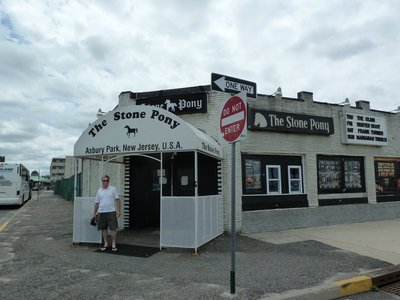 The entrance to the Stone Pony music venue at Asbury Park